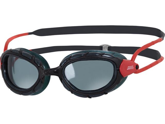Zoggs Predator Polarized duikbrillen rood/zwart